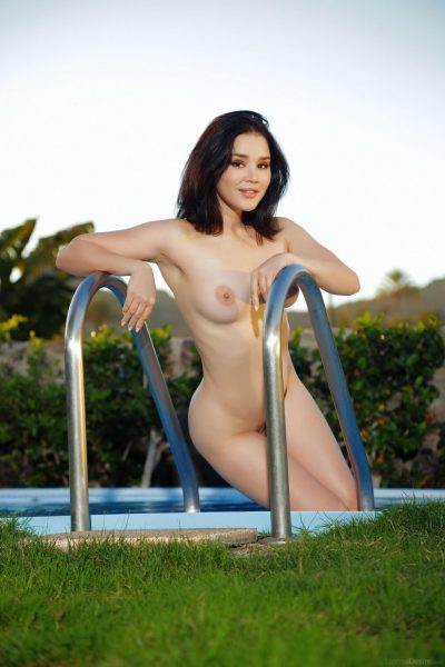 EternalDesire – Cute model Malena nude poolside in FRAIS (12 pics)