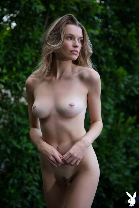 Hot Playboy model nude small tits and slender body pic 4