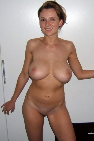 Busty petite nude amateur in homemade shot