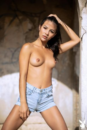 gorgeous international model with sexy small tits topless