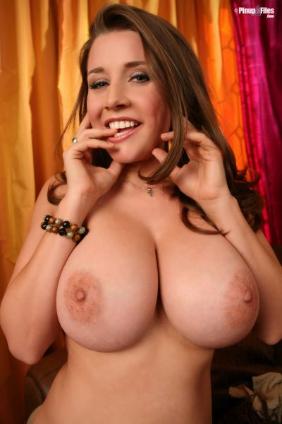 Busty Pinup Girl with Perfect Big Natural Boobs