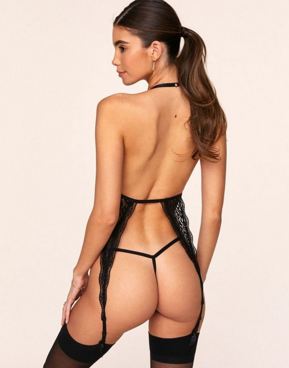 Cindy Mello hot black string