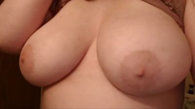 Nice naked big saggy tits drop out of bra! (gif)