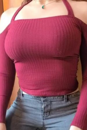 Busty sweater in big boobs reveal (gif)