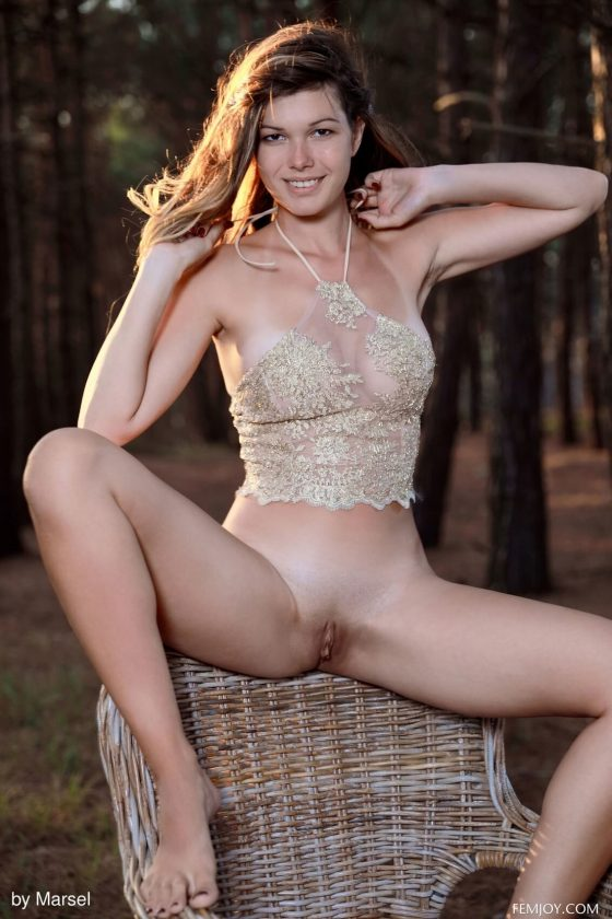FemJoy – Stefania getting naked in Nature Lover (gallery)