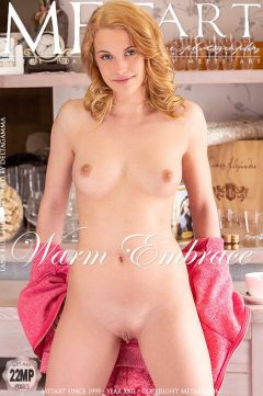 Sexy blonde model Lana Blue in Warm Embrace by Metart (cover)