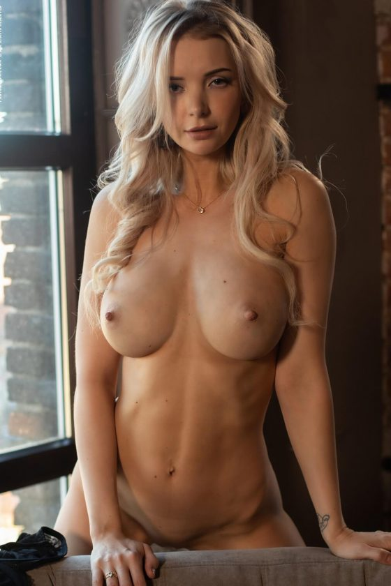 Sensuous busty blonde model Piper in THE HEAT OF THE MOMENT