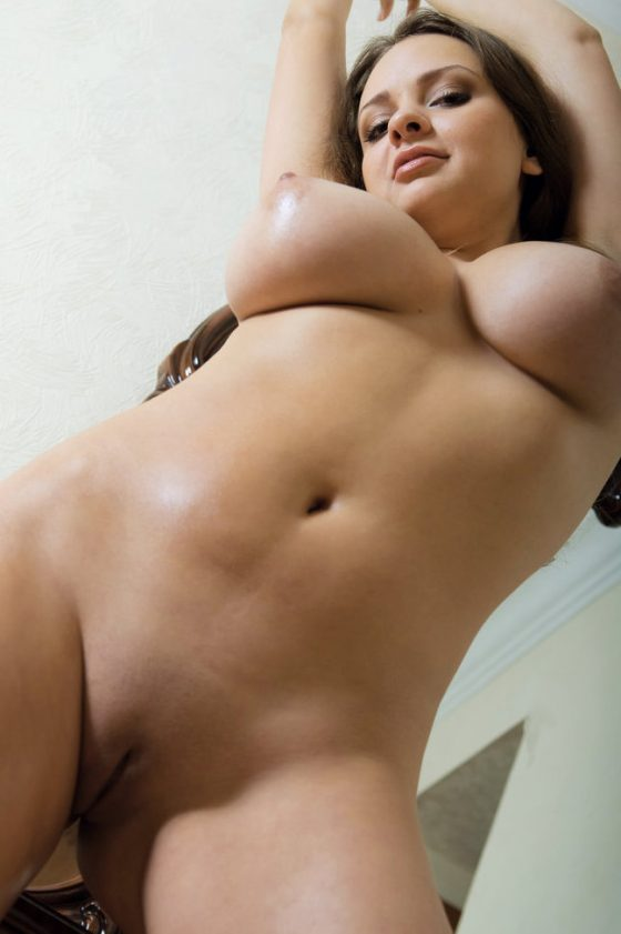 European solo model Any oils up while rocking her big tits in the nude!