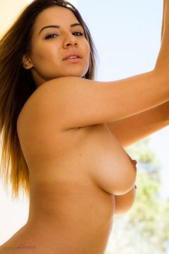Glamour model Lacey Banghard topless boobs