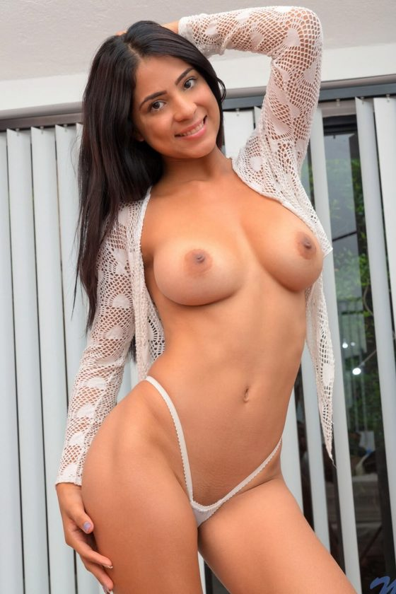 Attractive Latina with nice round tits