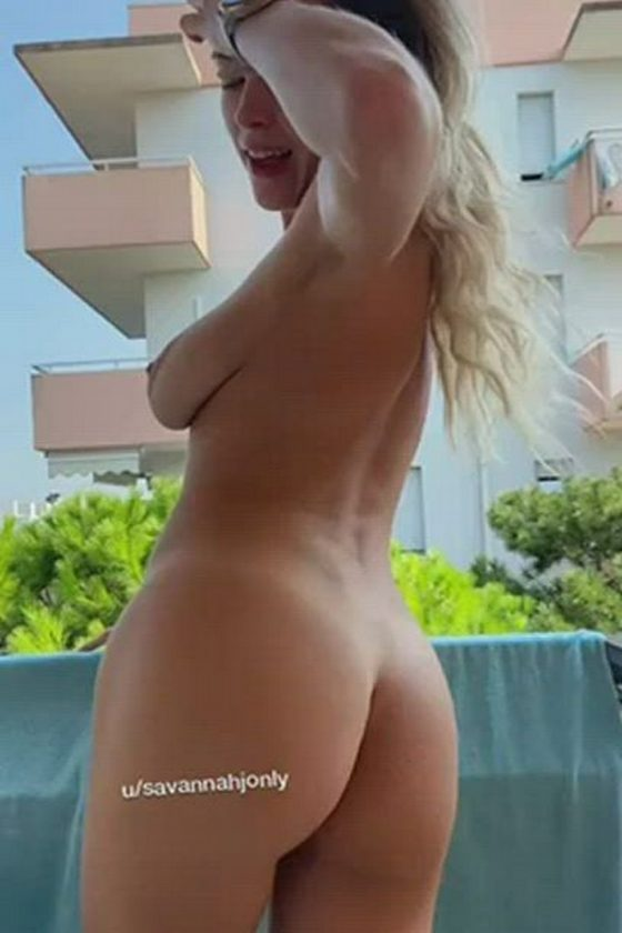 Would you join her on the balcony? (gif)