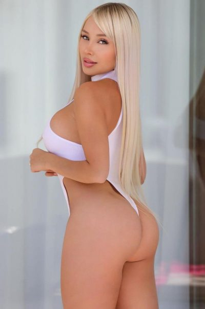 Hot influencer with round buttocks